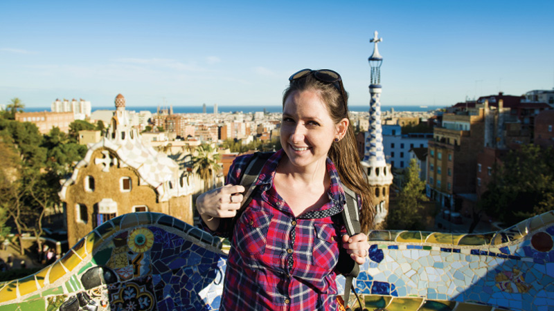 Students on student exchange in Spain